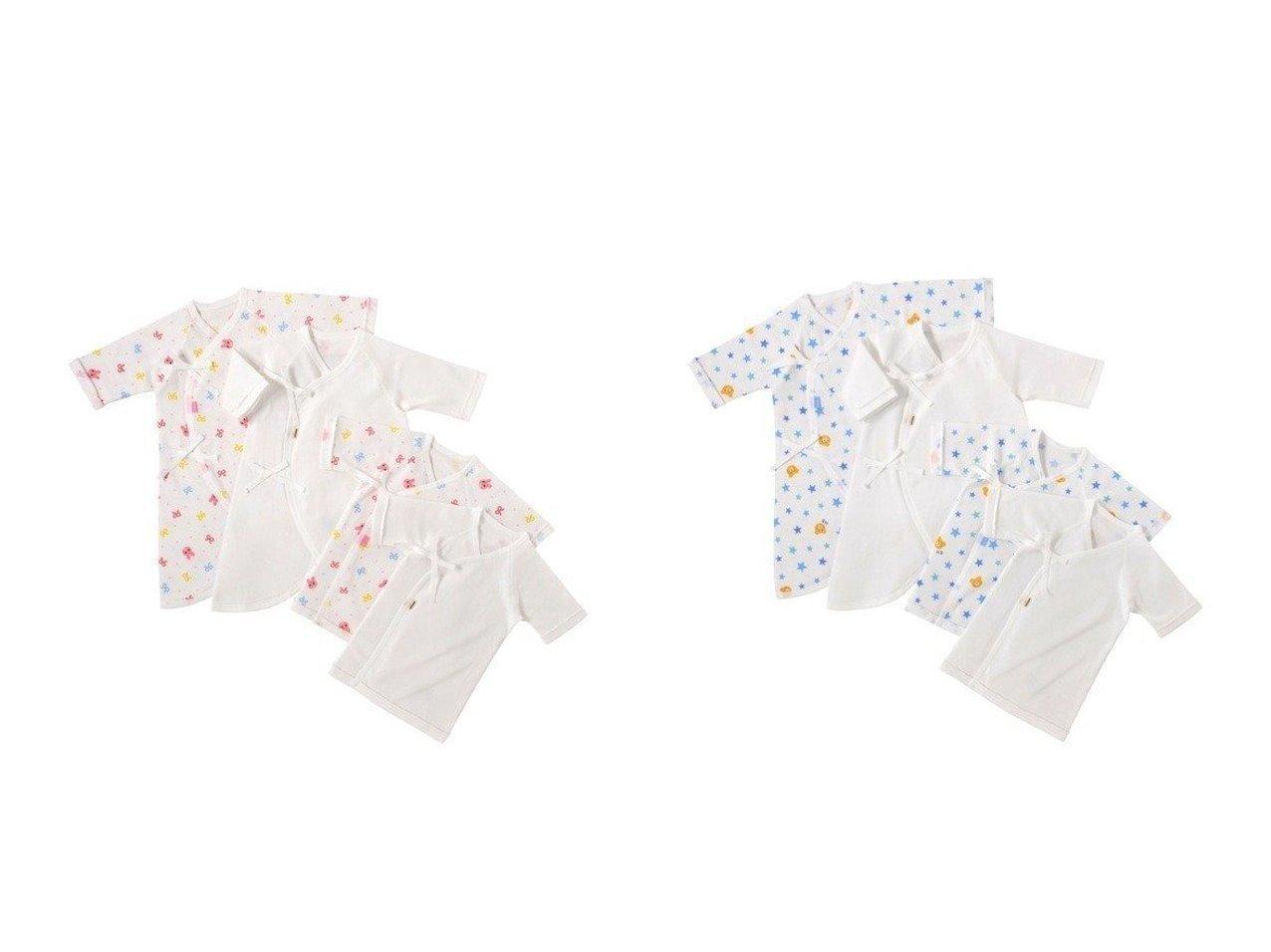 【MIKI HOUSE HOT BISCUITS / KIDS/ミキハウスホットビスケッツ】の【HOTBISCUITS】【日本製】肌着セット 【KIDS】子供服のおすすめ!人気トレンド・キッズファッションの通販  おすすめで人気の流行・トレンド、ファッションの通販商品 メンズファッション・キッズファッション・インテリア・家具・レディースファッション・服の通販 founy(ファニー) https://founy.com/ ファッション Fashion キッズファッション KIDS コンビ フィット プリント 送料無料 Free Shipping |ID:crp329100000011280