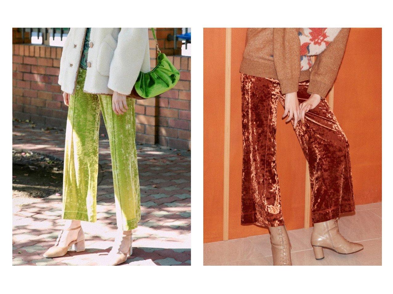 【Lily Brown/リリーブラウン】のリラックスベロアパンツ パンツおすすめ!人気、トレンド・レディースファッションの通販 おすすめで人気の流行・トレンド、ファッションの通販商品 メンズファッション・キッズファッション・インテリア・家具・レディースファッション・服の通販 founy(ファニー) https://founy.com/ ファッション Fashion レディースファッション WOMEN パンツ Pants クラッシュ ジーンズ センター フレア ベロア リラックス ロング |ID:crp329100000011323
