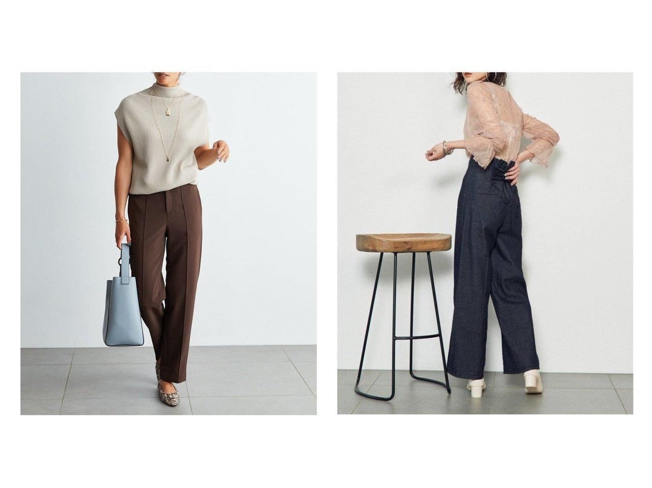 【Mila Owen/ミラオーウェン】のセンターコバゆるテーバードパンツ&【SNIDEL/スナイデル】のバックデザインデニム パンツおすすめ!人気、トレンド・レディースファッションの通販 おすすめで人気の流行・トレンド、ファッションの通販商品 メンズファッション・キッズファッション・インテリア・家具・レディースファッション・服の通販 founy(ファニー) https://founy.com/ ファッション Fashion レディースファッション WOMEN パンツ Pants バッグ Bag シンプル ロング インディゴ ジーンズ センター デニム フレア リボン レース ワイド 人気 定番 Standard 秋 Autumn/Fall |ID:crp329100000011324