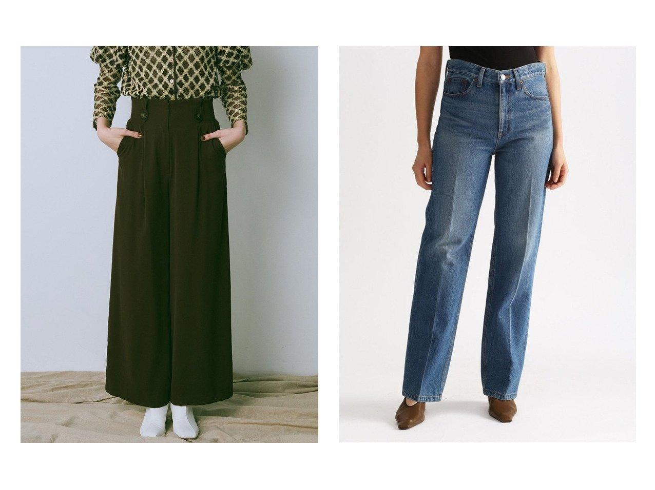【Lily Brown/リリーブラウン】のハイウエストタックパンツ&【Mila Owen/ミラオーウェン】のセンター削りオーガニックデニムパンツ パンツおすすめ!人気、トレンド・レディースファッションの通販 おすすめで人気の流行・トレンド、ファッションの通販商品 メンズファッション・キッズファッション・インテリア・家具・レディースファッション・服の通販 founy(ファニー) https://founy.com/ ファッション Fashion レディースファッション WOMEN パンツ Pants デニムパンツ Denim Pants ジョーゼット ジーンズ ストレート ワイド 11月号 12月号 センター デニム ボックス ヴィンテージ |ID:crp329100000011325