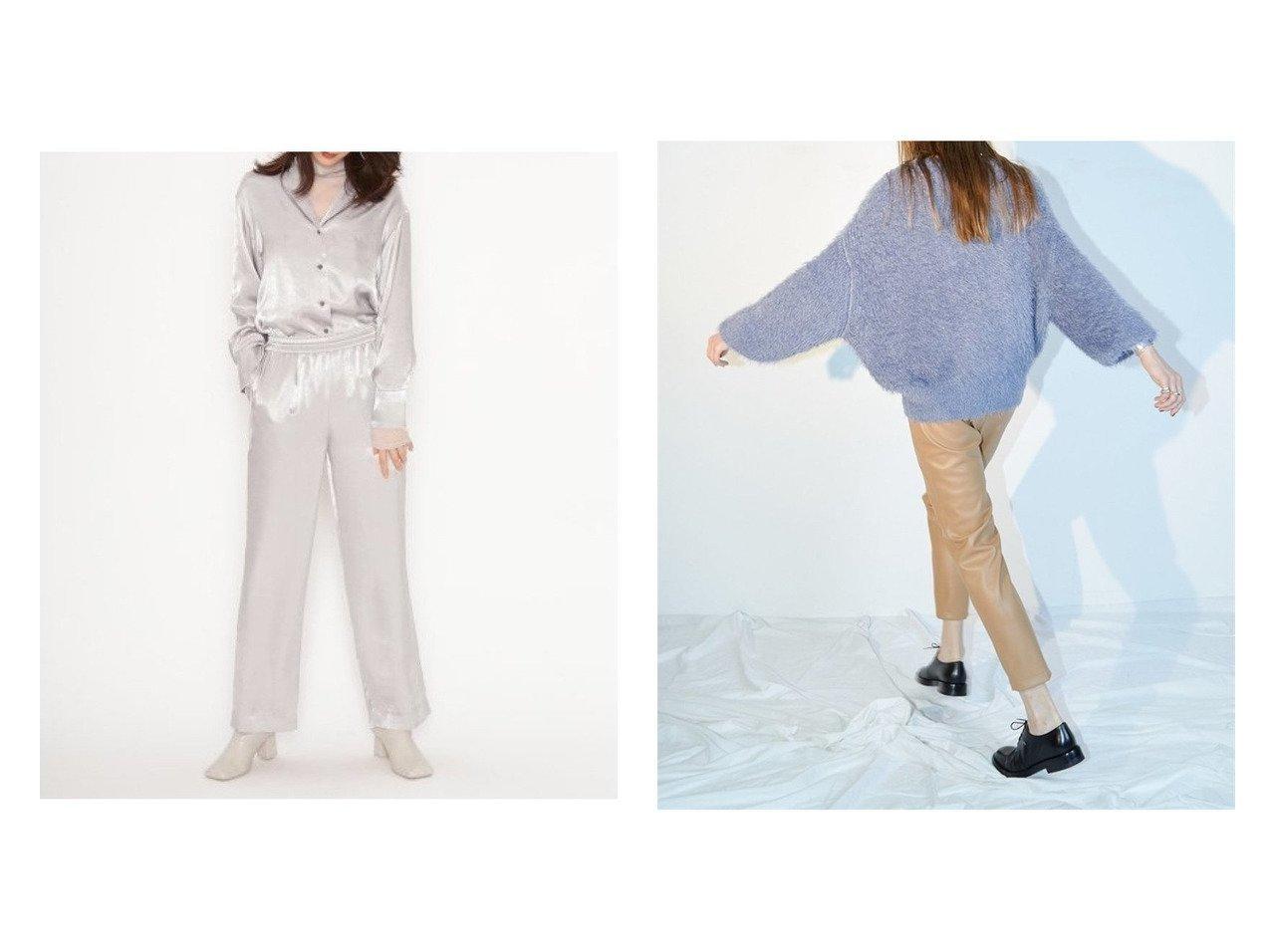 【SNIDEL/スナイデル】のサテンイージーパンツ&【styling/スタイリング】のフェイクレザーパンツ パンツおすすめ!人気、トレンド・レディースファッションの通販 おすすめで人気の流行・トレンド、ファッションの通販商品 メンズファッション・キッズファッション・インテリア・家具・レディースファッション・服の通販 founy(ファニー) https://founy.com/ ファッション Fashion レディースファッション WOMEN パンツ Pants オレンジ サテン シルバー ジーンズ セットアップ フェミニン マーブル 無地 リラックス 10月号 11月号 シアー スタイリッシュ スリム ドローコード 雑誌 |ID:crp329100000011326