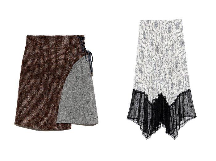 【Lily Brown/リリーブラウン】の異素材切替えミニスカート&【FURFUR/ファーファー】のウォールペーパースカート スカートおすすめ!人気、トレンド・レディースファッションの通販 おすすめファッション通販アイテム インテリア・キッズ・メンズ・レディースファッション・服の通販 founy(ファニー) https://founy.com/ ファッション Fashion レディースファッション WOMEN スカート Skirt ミニスカート Mini Skirts アシンメトリー シンプル ツイード パープル フィット ベロア ミックス ミニスカート リボン レース 台形 無地 クラシック プリント ヘムライン ランダム |ID:crp329100000011365