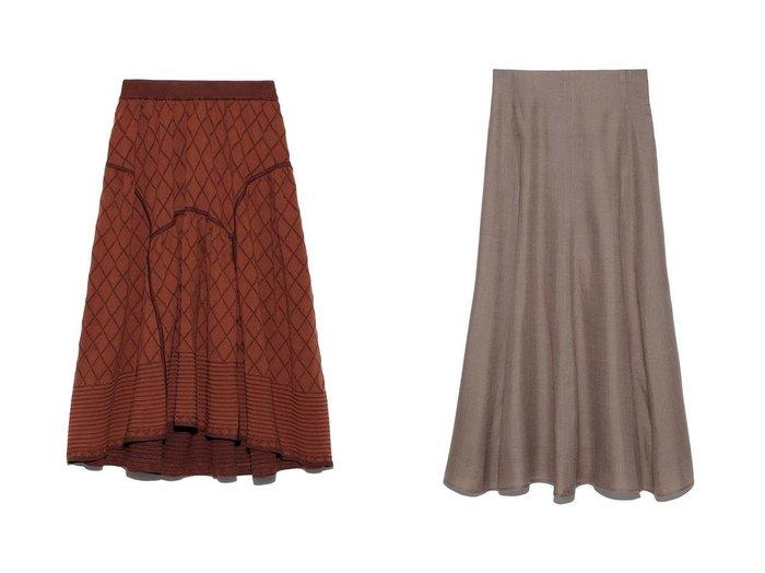 【Mila Owen/ミラオーウェン】のマテリアルセットアップナロースカート&【FURFUR/ファーファー】のニットスカート スカートおすすめ!人気、トレンド・レディースファッションの通販 おすすめファッション通販アイテム インテリア・キッズ・メンズ・レディースファッション・服の通販 founy(ファニー) https://founy.com/ ファッション Fashion レディースファッション WOMEN スカート Skirt セットアップ Setup スカート Skirt Aライン/フレアスカート Flared A-Line Skirts キルティング コンパクト 10月号 11月号 カットソー セットアップ セパレート チェック フレア |ID:crp329100000011370