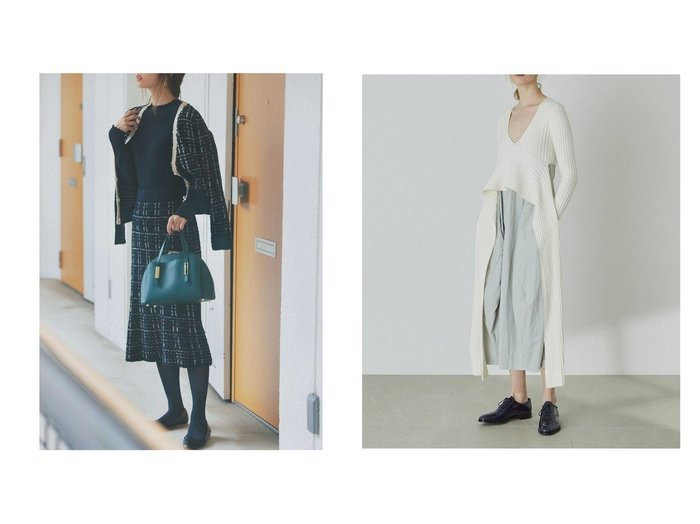 【styling/スタイリング】のドッキングワンピース&【PROPORTION BODY DRESSING/プロポーション ボディドレッシング】のツイードニットセットアップ ワンピース・ドレスのおすすめ!人気、トレンド・レディースファッションの通販 おすすめファッション通販アイテム レディースファッション・服の通販 founy(ファニー) ファッション Fashion レディースファッション WOMEN ワンピース Dress カーディガン コンパクト シンプル ツイード マーメイド 再入荷 Restock/Back in Stock/Re Arrival 羽織 コンビ タイプライター ドッキング フォルム ペプラム リブニット |ID:crp329100000011498