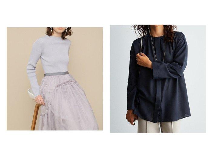【Mila Owen/ミラオーウェン】の比翼ギャザーAラインチュニック&【FURFUR/ファーファー】のチュールコンビニットワンピース ワンピース・ドレスのおすすめ!人気、トレンド・レディースファッションの通販 おすすめファッション通販アイテム レディースファッション・服の通販 founy(ファニー) ファッション Fashion レディースファッション WOMEN ワンピース Dress ニットワンピース Knit Dresses チュニック Tunic ギャザー チュニック バランス フロント |ID:crp329100000011507