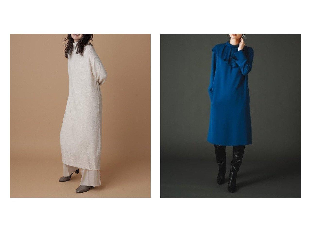 【CELFORD/セルフォード】のアシメフリルカラーワンピース&【FRAY I.D/フレイ アイディー】のウールカシミアハイネックワンピース ワンピース・ドレスのおすすめ!人気、トレンド・レディースファッションの通販 おすすめで人気の流行・トレンド、ファッションの通販商品 メンズファッション・キッズファッション・インテリア・家具・レディースファッション・服の通販 founy(ファニー) https://founy.com/ ファッション Fashion レディースファッション WOMEN ワンピース Dress マキシワンピース Maxi Dress 11月号 カシミア スリット センター バランス マキシ リラックス ロング アシンメトリー カフス ギャザー ジョーゼット フリル フロント |ID:crp329100000011516
