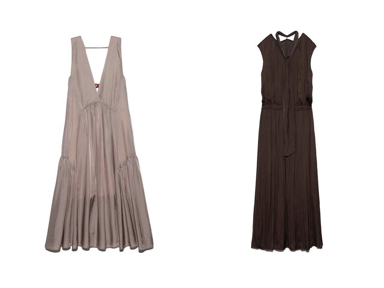 【Mila Owen/ミラオーウェン】の2wayノースリーブワッシャーボウタイワンピース&【FURFUR/ファーファー】のバックベルトノースリーブドレス ワンピース・ドレスのおすすめ!人気、トレンド・レディースファッションの通販 おすすめで人気の流行・トレンド、ファッションの通販商品 メンズファッション・キッズファッション・インテリア・家具・レディースファッション・服の通販 founy(ファニー) https://founy.com/ ファッション Fashion レディースファッション WOMEN トップス Tops Tshirt キャミソール / ノースリーブ No Sleeves ワンピース Dress ドレス Party Dresses バッグ Bag ベルト Belts インナー キュプラ ギャザー ドレス フレア フロント カーディガン 今季 11月号 シャーリング ノースリーブ フィット プリント リボン ワッシャー |ID:crp329100000011519