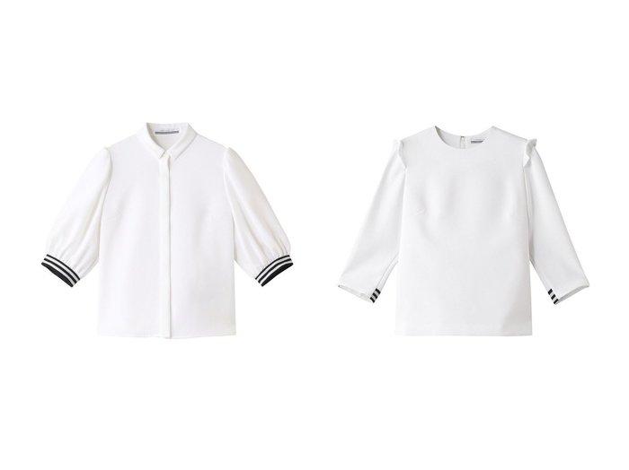 【BORDERS at BALCONY/ボーダーズ アット バルコニー】のバルーンシャツ&カフトップ トップス・カットソーのおすすめ!人気、トレンド・レディースファッションの通販 おすすめ人気トレンドファッション通販アイテム 人気、トレンドファッション・服の通販 founy(ファニー)  ファッション Fashion レディースファッション WOMEN トップス Tops Tshirt シャツ/ブラウス Shirts Blouses 2020年 2020 2020-2021 秋冬 A/W AW Autumn/Winter / FW Fall-Winter 2020-2021 2021年 2021 2021 春夏 S/S SS Spring/Summer 2021 シェイプ スリーブ ツイル バルーン ロング 春 Spring A/W 秋冬 AW Autumn/Winter / FW Fall-Winter |ID:crp329100000011530