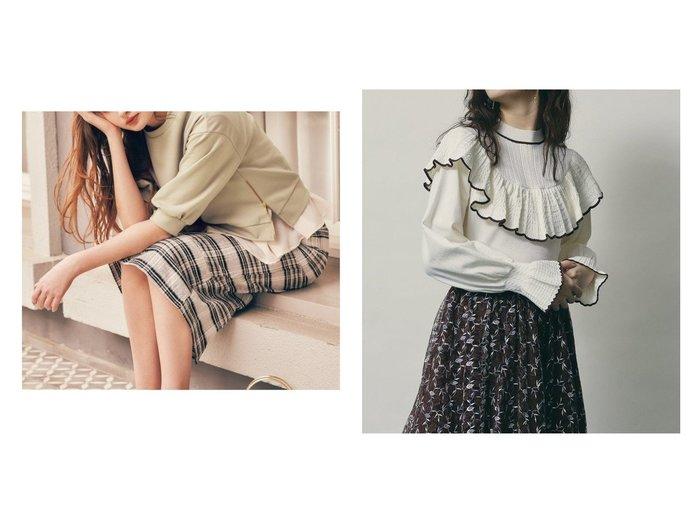 【Noela/ノエラ】のサイドファスナースウェットトップス&【Lily Brown/リリーブラウン】の透かし編みフリルニットトップス トップス・カットソーのおすすめ!人気、トレンド・レディースファッションの通販 おすすめファッション通販アイテム レディースファッション・服の通販 founy(ファニー) ファッション Fashion レディースファッション WOMEN トップス Tops Tshirt パーカ Sweats スウェット Sweat カットソー Cut and Sewn ニット Knit Tops カットソー シンプル スウェット タイトスカート ノースリーブ ハイネック フリル ボトム シアー デコルテ |ID:crp329100000011592