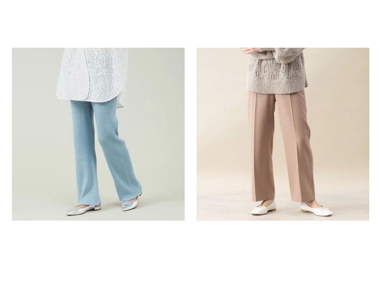 【qualite/カリテ】のブライトサージストレートパンツ(通常丈)&シームレスリブニットパンツ パンツのおすすめ!人気、トレンド・レディースファッションの通販 おすすめで人気の流行・トレンド、ファッションの通販商品 メンズファッション・キッズファッション・インテリア・家具・レディースファッション・服の通販 founy(ファニー) https://founy.com/ ファッション Fashion レディースファッション WOMEN パンツ Pants スウェット ホールガーメント 定番 Standard A/W 秋冬 AW Autumn/Winter / FW Fall-Winter |ID:crp329100000011688
