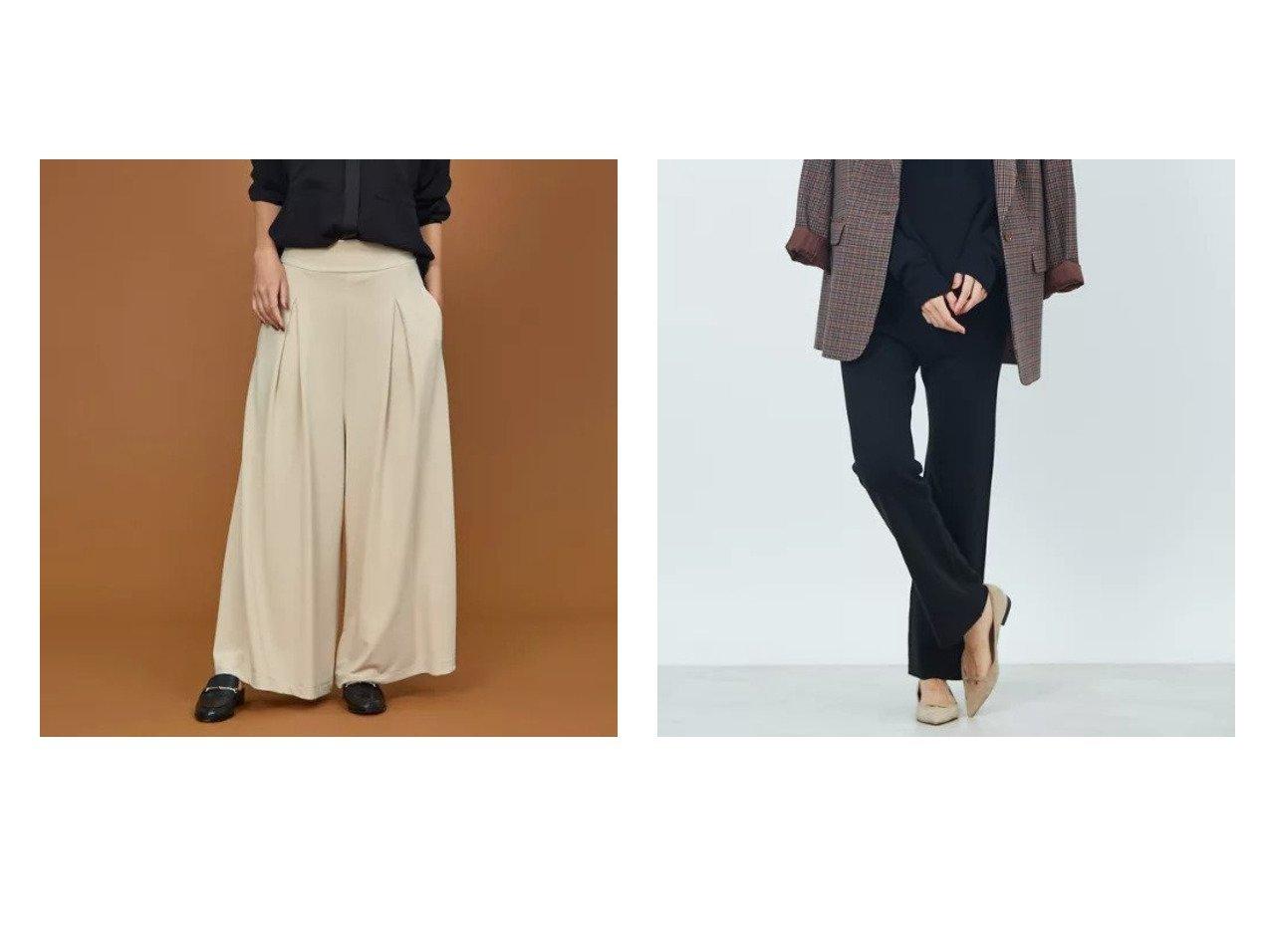 【qualite/カリテ】のストレッチポンチワイドパンツ&【Rouge vif/ルージュ ヴィフ】のポケット付きウール混ニットパンツ パンツのおすすめ!人気、トレンド・レディースファッションの通販 おすすめで人気の流行・トレンド、ファッションの通販商品 メンズファッション・キッズファッション・インテリア・家具・レディースファッション・服の通販 founy(ファニー) https://founy.com/ ファッション Fashion レディースファッション WOMEN パンツ Pants セットアップ ポケット A/W 秋冬 AW Autumn/Winter / FW Fall-Winter |ID:crp329100000011689