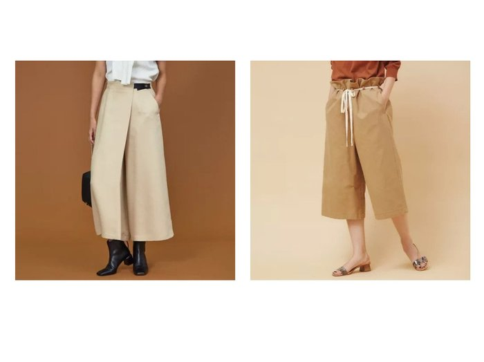 【36 Quatre-Neuf/カトルナフ】のコットンネップペパーバックパンツ&【qualite/カリテ】のラップワイドパンツ パンツのおすすめ!人気、トレンド・レディースファッションの通販 おすすめ人気トレンドファッション通販アイテム 人気、トレンドファッション・服の通販 founy(ファニー)  ファッション Fashion レディースファッション WOMEN パンツ Pants バッグ Bag カットソー シューズ シンプル ネップ フラット |ID:crp329100000011708