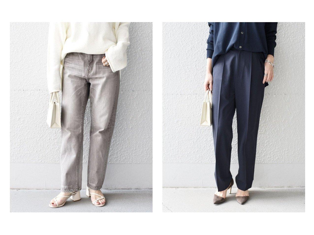 【SHIPS/シップス フォー ウィメン】のリサイクルポリエステルタックパンツ&スリムストレートデニム gray パンツのおすすめ!人気、トレンド・レディースファッションの通販 おすすめで人気の流行・トレンド、ファッションの通販商品 メンズファッション・キッズファッション・インテリア・家具・レディースファッション・服の通販 founy(ファニー) https://founy.com/ ファッション Fashion レディースファッション WOMEN パンツ Pants シンプル ジーンズ 再入荷 Restock/Back in Stock/Re Arrival NEW・新作・新着・新入荷 New Arrivals ストレート ヴィンテージ 人気 |ID:crp329100000011716
