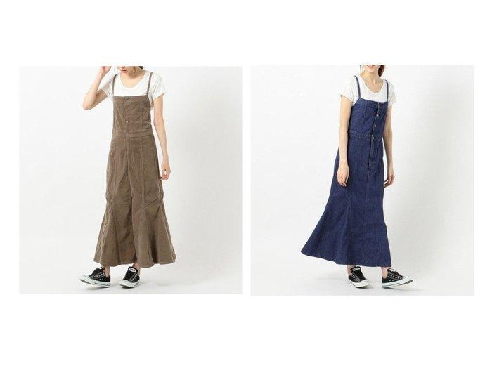 【any SiS/エニィ スィス】の【L'aube】Leeサロペット スカート スカートのおすすめ!人気、トレンド・レディースファッションの通販 おすすめファッション通販アイテム レディースファッション・服の通販 founy(ファニー) ファッション Fashion レディースファッション WOMEN スカート Skirt 送料無料 Free Shipping サロペット シンプル フレア リボン ロング 人気 |ID:crp329100000011742