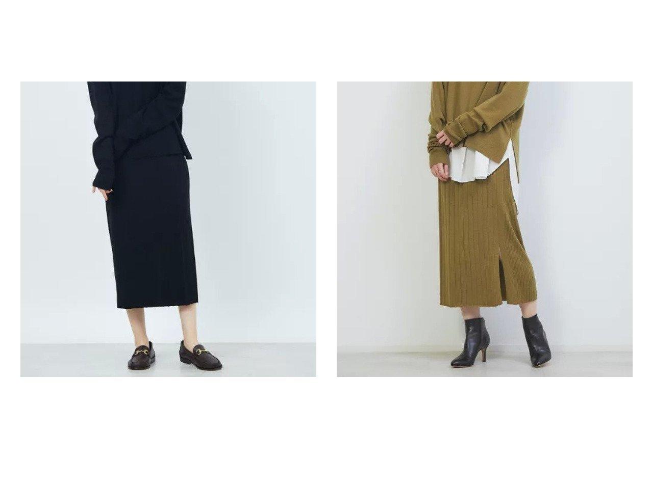 【Rouge vif/ルージュ ヴィフ】のアシンメトリータイトニットスカート スカートのおすすめ!人気、トレンド・レディースファッションの通販 おすすめで人気の流行・トレンド、ファッションの通販商品 メンズファッション・キッズファッション・インテリア・家具・レディースファッション・服の通販 founy(ファニー) https://founy.com/ ファッション Fashion レディースファッション WOMEN スカート Skirt スリット セットアップ A/W 秋冬 AW Autumn/Winter / FW Fall-Winter |ID:crp329100000011745