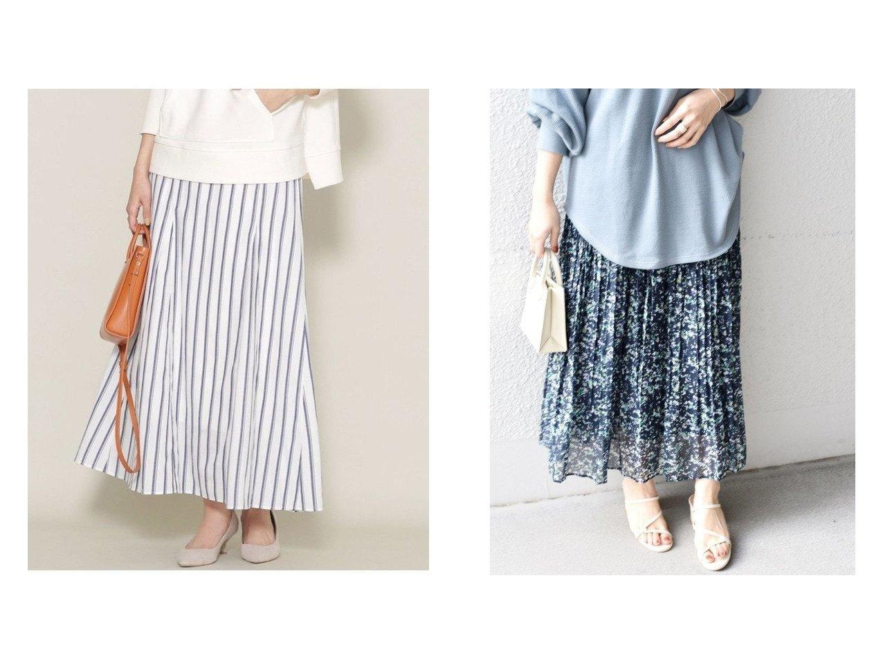 【SHIPS/シップス フォー ウィメン】のワッシャープリーツプリントスカート&【nano universe/ナノ ユニバース】のストライプフレアロングスカート スカートのおすすめ!人気、トレンド・レディースファッションの通販 おすすめで人気の流行・トレンド、ファッションの通販商品 メンズファッション・キッズファッション・インテリア・家具・レディースファッション・服の通販 founy(ファニー) https://founy.com/ ファッション Fashion レディースファッション WOMEN スカート Skirt プリーツスカート Pleated Skirts ロングスカート Long Skirt NEW・新作・新着・新入荷 New Arrivals くるぶし エアリー ギャザー トレンド プリーツ 再入荷 Restock/Back in Stock/Re Arrival ウォッシャブル ストライプ セットアップ 長袖 フレア リネン ロング |ID:crp329100000011752