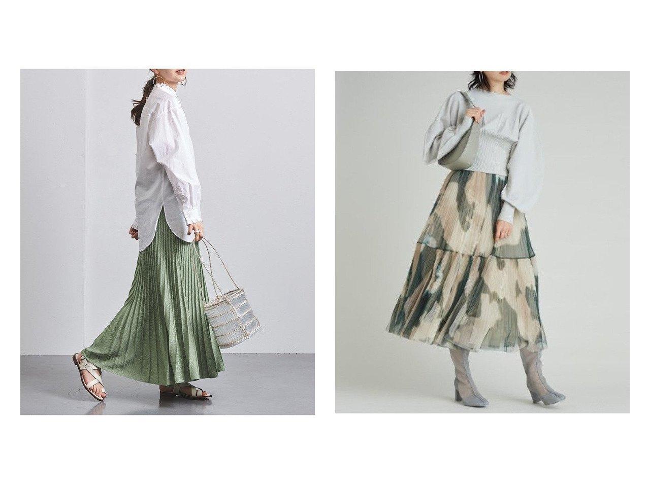 【UNITED ARROWS/ユナイテッドアローズ】のUWCC ラメ ニットプリーツ スカート†&【SNIDEL/スナイデル】のチュールタイダイスカート スカートのおすすめ!人気、トレンド・レディースファッションの通販 おすすめで人気の流行・トレンド、ファッションの通販商品 メンズファッション・キッズファッション・インテリア・家具・レディースファッション・服の通販 founy(ファニー) https://founy.com/ ファッション Fashion レディースファッション WOMEN スカート Skirt Aライン/フレアスカート Flared A-Line Skirts プリーツスカート Pleated Skirts エアリー 春 Spring カットソー ダウン チュール トレンド 人気 バランス フェミニン フレア プリント プリーツ マーブル 再入荷 Restock/Back in Stock/Re Arrival NEW・新作・新着・新入荷 New Arrivals アンダー ギャザー シアー シンプル ドレス ドレープ |ID:crp329100000011756