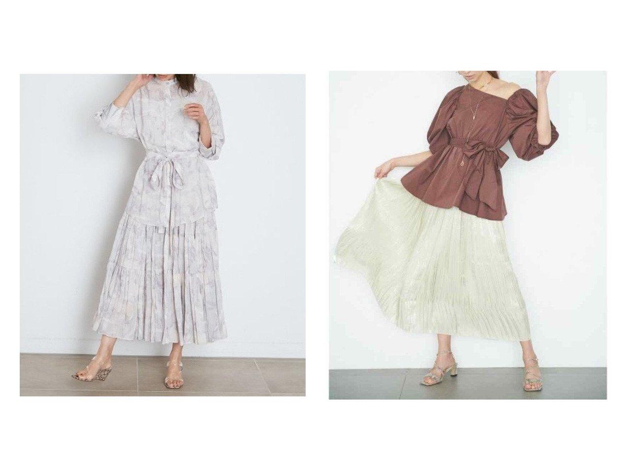 【SNIDEL/スナイデル】のシアーボリュームティアードスカート&【CELFORD/セルフォード】のオーロラサテンプリーツスカート スカートのおすすめ!人気、トレンド・レディースファッションの通販 おすすめで人気の流行・トレンド、ファッションの通販商品 メンズファッション・キッズファッション・インテリア・家具・レディースファッション・服の通販 founy(ファニー) https://founy.com/ ファッション Fashion レディースファッション WOMEN スカート Skirt ミニスカート Mini Skirts プリーツスカート Pleated Skirts ティアードスカート Tiered Skirts ロングスカート Long Skirt NEW・新作・新着・新入荷 New Arrivals インナー サテン パープル プリーツ ミニスカート 再入荷 Restock/Back in Stock/Re Arrival 無地 シアー セットアップ ティアードスカート プリント マーブル ミックス ロング |ID:crp329100000011760