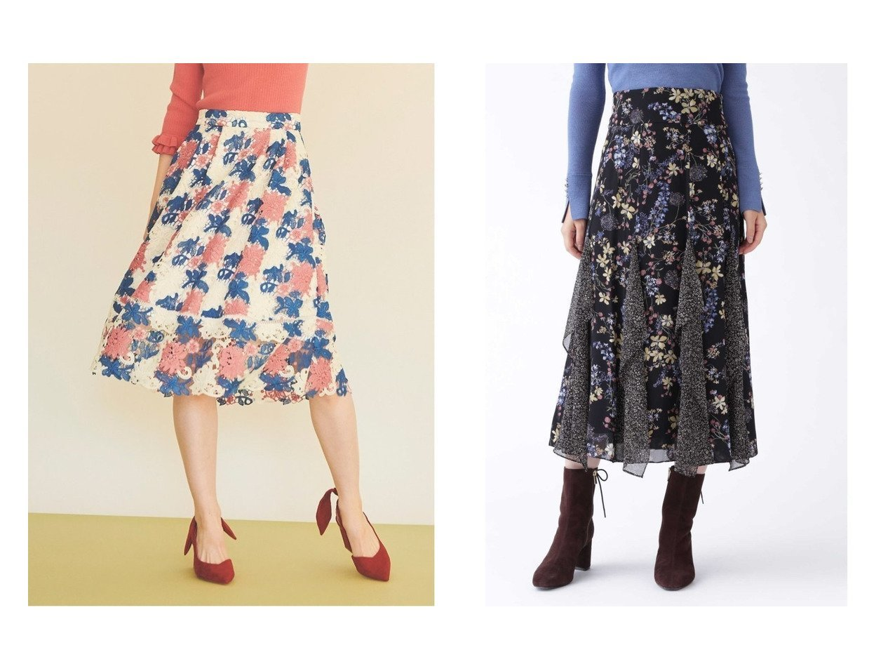 【JILLSTUART/ジルスチュアート】のミックススフラワープリントスカート&【31 Sons de mode/トランテアン ソン ドゥ モード】のケミカルレースフレアスカート スカートのおすすめ!人気、トレンド・レディースファッションの通販 おすすめで人気の流行・トレンド、ファッションの通販商品 メンズファッション・キッズファッション・インテリア・家具・レディースファッション・服の通販 founy(ファニー) https://founy.com/ ファッション Fashion レディースファッション WOMEN スカート Skirt Aライン/フレアスカート Flared A-Line Skirts シフォン ジョーゼット フェミニン プリント ボタニカル NEW・新作・新着・新入荷 New Arrivals 2021年 2021 2021 春夏 S/S SS Spring/Summer 2021 S/S 春夏 SS Spring/Summer シンプル フレア 春 Spring |ID:crp329100000011764