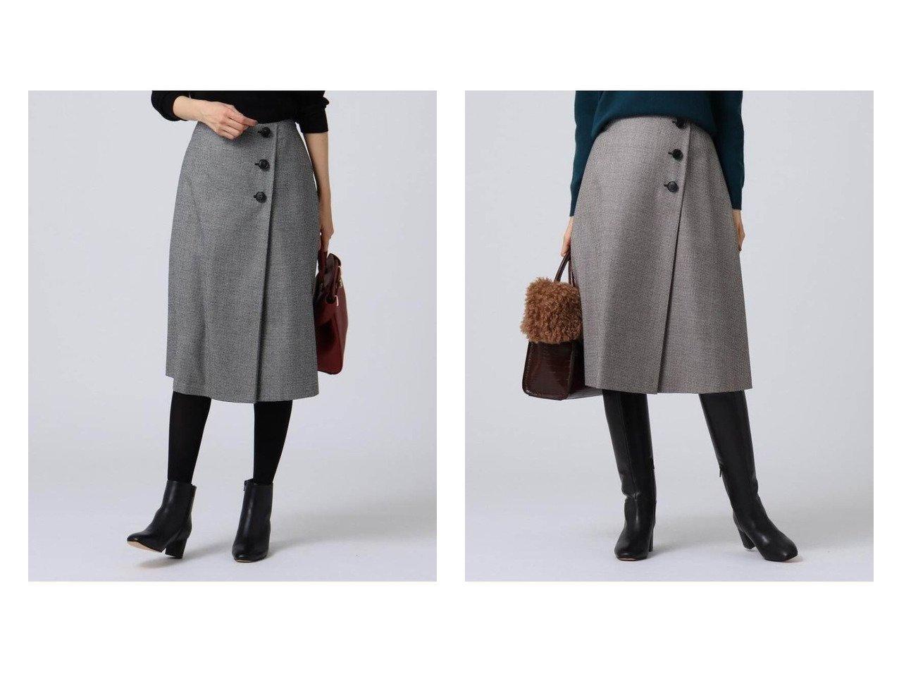 【UNTITLED/アンタイトル】の巻き風タックフレアスカート スカートのおすすめ!人気、トレンド・レディースファッションの通販 おすすめで人気の流行・トレンド、ファッションの通販商品 メンズファッション・キッズファッション・インテリア・家具・レディースファッション・服の通販 founy(ファニー) https://founy.com/ ファッション Fashion レディースファッション WOMEN スカート Skirt Aライン/フレアスカート Flared A-Line Skirts フェミニン フレア |ID:crp329100000011768