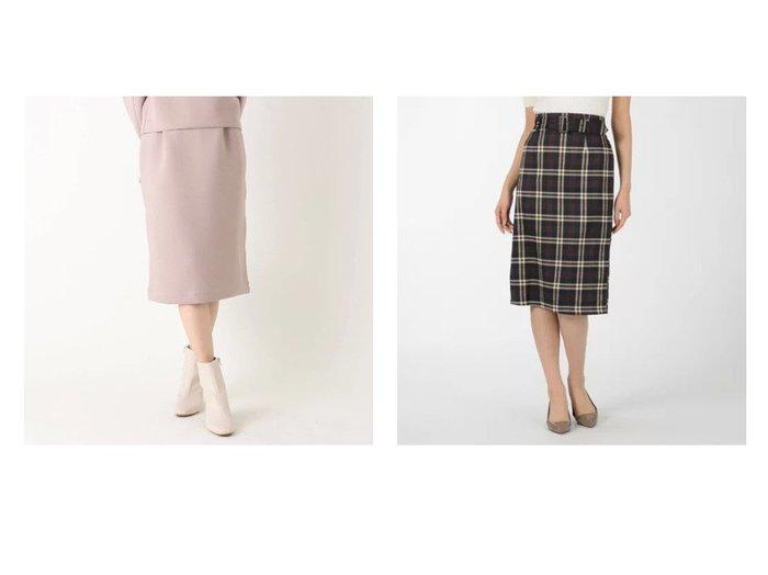 【INGNI/イング】の共ベルト付チェック柄ナロースカート&【INDEX/インデックス】の【WEB限定サイズ】ツイルダンボールタイトスカート スカートのおすすめ!人気、トレンド・レディースファッションの通販 おすすめファッション通販アイテム レディースファッション・服の通販 founy(ファニー) ファッション Fashion レディースファッション WOMEN スカート Skirt ベルト Belts クラシカル ジップ チェック マキシ ロング ジャケット スポーティ セットアップ タイトスカート ペチコート ポケット 冬 Winter |ID:crp329100000011784