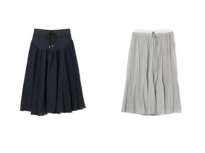 【MALAMUTE/マラミュート】のLIGHT SHEER PLEATED SKIRT&GYNOID SKIRT 21SS スカートのおすすめ!人気、トレンド・レディースファッションの通販 おすすめファッション通販アイテム レディースファッション・服の通販 founy(ファニー) ファッション Fashion レディースファッション WOMEN スカート Skirt プリーツスカート Pleated Skirts 2021年 2021 2021 春夏 S/S SS Spring/Summer 2021 S/S 春夏 SS Spring/Summer シアー フレア プリーツ マキシ ロング  ID:crp329100000011786