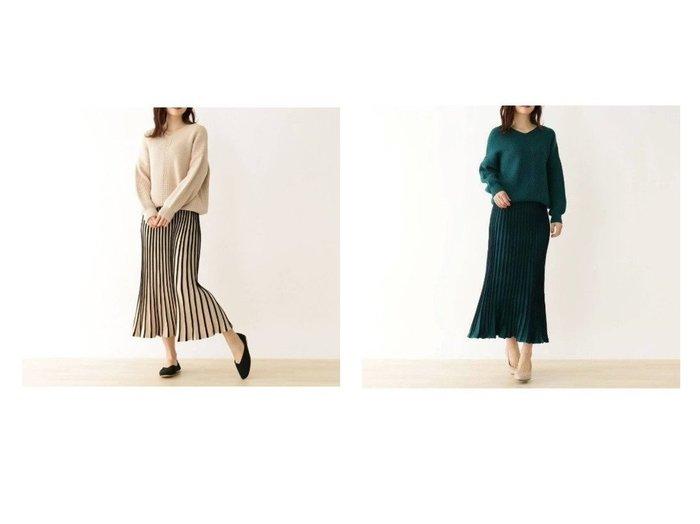 【SHOO LA RUE / DRESKIP/シューラルー ドレスキップ】の【2点セット】ニット+配色スカート スカートのおすすめ!人気、トレンド・レディースファッションの通販 おすすめファッション通販アイテム レディースファッション・服の通販 founy(ファニー) ファッション Fashion レディースファッション WOMEN スカート Skirt セットアップ トレンド フレア フロント プリーツ |ID:crp329100000011787