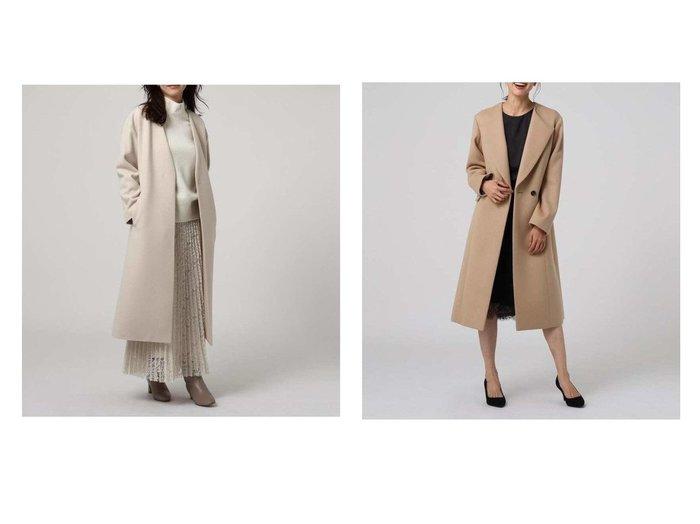 【UNTITLED essential clue/アンタイトル エッセンシャルクルー】のルーチェリッチメリノロングコート&【UNTITLED/アンタイトル】のニューイングランドラムノーカラーコート アウターのおすすめ!人気、トレンド・レディースファッションの通販 おすすめファッション通販アイテム レディースファッション・服の通販 founy(ファニー) ファッション Fashion レディースファッション WOMEN アウター Coat Outerwear コート Coats ジャケット Jackets ノーカラージャケット No Collar Leather Jackets ショルダー ジャケット ドロップ バランス プリーツ マキシ メルトン オケージョン ハイネック ロング |ID:crp329100000011891