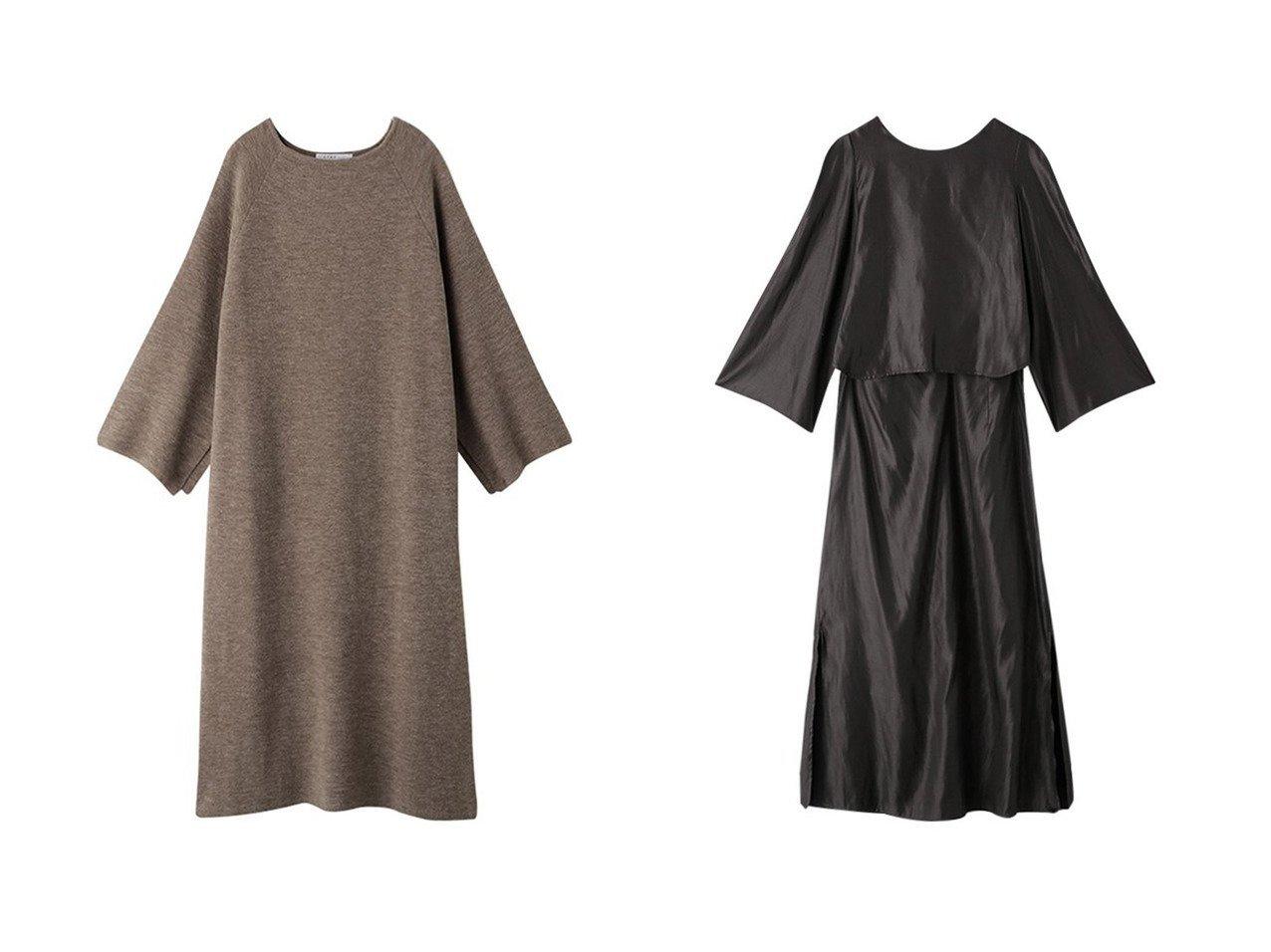 【ETRE TOKYO/エトレトウキョウ】のモールニットラグランスリーブワンピース&バックオープンフレアロングドレス ワンピース・ドレスのおすすめ!人気、トレンド・レディースファッションの通販 おすすめで人気の流行・トレンド、ファッションの通販商品 メンズファッション・キッズファッション・インテリア・家具・レディースファッション・服の通販 founy(ファニー) https://founy.com/ ファッション Fashion レディースファッション WOMEN ワンピース Dress ドレス Party Dresses スリット スリーブ ロング 冬 Winter カッティング サテン セットアップ フレア フロント  ID:crp329100000011929