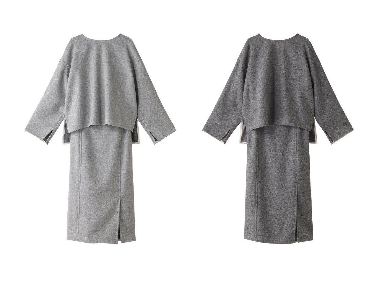 【Whim Gazette/ウィムガゼット】のダブルフェイスセットアップ ワンピース・ドレスのおすすめ!人気、トレンド・レディースファッションの通販 おすすめで人気の流行・トレンド、ファッションの通販商品 メンズファッション・キッズファッション・インテリア・家具・レディースファッション・服の通販 founy(ファニー) https://founy.com/ ファッション Fashion レディースファッション WOMEN セットアップ Setup パンツ Pants シンプル セットアップ ダブル バランス フェイス フォルム  ID:crp329100000011939