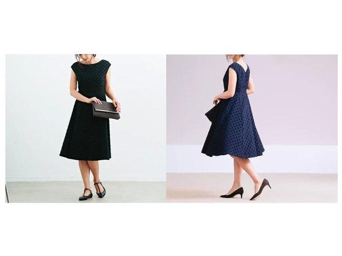 【Rouge vif/ルージュ ヴィフ】のドットジャガードワンピース ワンピース・ドレスのおすすめ!人気、トレンド・レディースファッションの通販 おすすめファッション通販アイテム レディースファッション・服の通販 founy(ファニー) ファッション Fashion レディースファッション WOMEN ワンピース Dress ドレス Party Dresses アクセサリー スリーブ ドット ドレス フィット フォーマル フレア フレンチ  ID:crp329100000011947