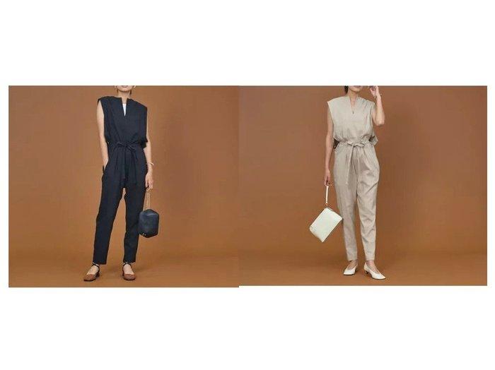 【qualite/カリテ】のコットンリネンウエストリボンオールインワン ワンピース・ドレスのおすすめ!人気、トレンド・レディースファッションの通販 おすすめ人気トレンドファッション通販アイテム 人気、トレンドファッション・服の通販 founy(ファニー)  ファッション Fashion レディースファッション WOMEN ワンピース Dress オールインワン ワンピース All In One Dress インナー カットソー サルエル ストレッチ リゾート リネン 楽ちん |ID:crp329100000011948