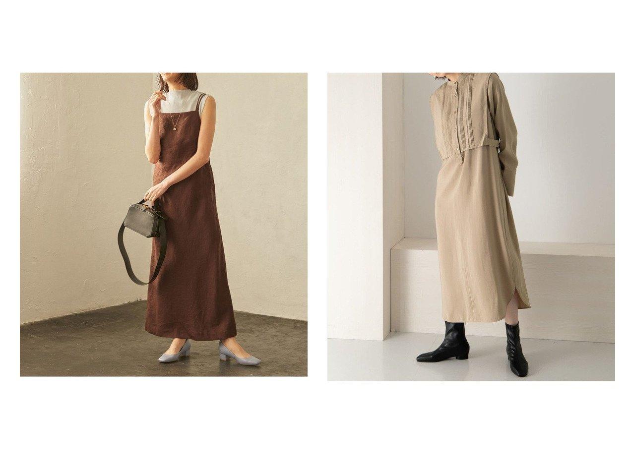 【KBF / URBAN RESEARCH/ケービーエフ】のピンタックレイヤードワンピース&【ROPE/ロペ】の【セット対応】リネンキャミワンピース ワンピース・ドレスのおすすめ!人気、トレンド・レディースファッションの通販 おすすめで人気の流行・トレンド、ファッションの通販商品 メンズファッション・キッズファッション・インテリア・家具・レディースファッション・服の通販 founy(ファニー) https://founy.com/ ファッション Fashion レディースファッション WOMEN ワンピース Dress キャミワンピース No Sleeve Dresses カーディガン キャミソール キャミワンピース ジャケット スクエア チェック ドレス ドレープ ポケット リネン NEW・新作・新着・新入荷 New Arrivals  ID:crp329100000011957