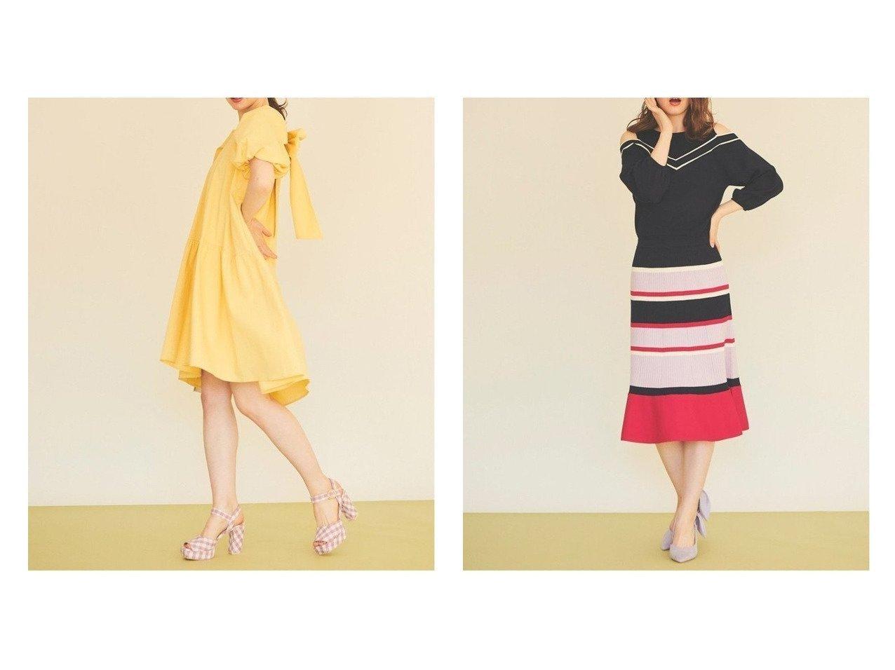 【31 Sons de mode/トランテアン ソン ドゥ モード】のシアサッカーバックリボンワンピース&パネルボーダー肩開ニットフレアワンピース ワンピース・ドレスのおすすめ!人気、トレンド・レディースファッションの通販 おすすめで人気の流行・トレンド、ファッションの通販商品 メンズファッション・キッズファッション・インテリア・家具・レディースファッション・服の通販 founy(ファニー) https://founy.com/ ファッション Fashion レディースファッション WOMEN ワンピース Dress NEW・新作・新着・新入荷 New Arrivals 2021年 2021 2021 春夏 S/S SS Spring/Summer 2021 S/S 春夏 SS Spring/Summer サッカー スリーブ リボン 半袖  ID:crp329100000011959