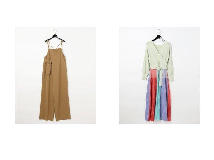 【GRACE CONTINENTAL/グレース コンチネンタル】のタックサロペット&カシュクールニットワンピース ワンピース・ドレスのおすすめ!人気、トレンド・レディースファッションの通販 おすすめ人気トレンドファッション通販アイテム 人気、トレンドファッション・服の通販 founy(ファニー)  ファッション Fashion レディースファッション WOMEN ワンピース Dress オールインワン ワンピース All In One Dress サロペット Salopette ニットワンピース Knit Dresses フェミニン ブロック ロマンティック 定番 Standard |ID:crp329100000011978
