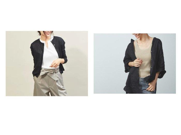 【qualite/カリテ】のドライフライスショートカーディガン&【Rouge vif/ルージュ ヴィフ】の【JILKY】リブ編みタンクトップ トップス・カットソーのおすすめ!人気、トレンド・レディースファッションの通販 おすすめファッション通販アイテム レディースファッション・服の通販 founy(ファニー) ファッション Fashion レディースファッション WOMEN トップス Tops Tshirt カーディガン Cardigans シャツ/ブラウス Shirts Blouses ロング / Tシャツ T-Shirts カットソー Cut and Sewn キャミソール / ノースリーブ No Sleeves カットソー カーディガン サンダル ショート シンプル スタイリッシュ プリーツ ボックス リゾート 春 Spring キャミソール ショルダー ストレッチ タンク フィット |ID:crp329100000012002