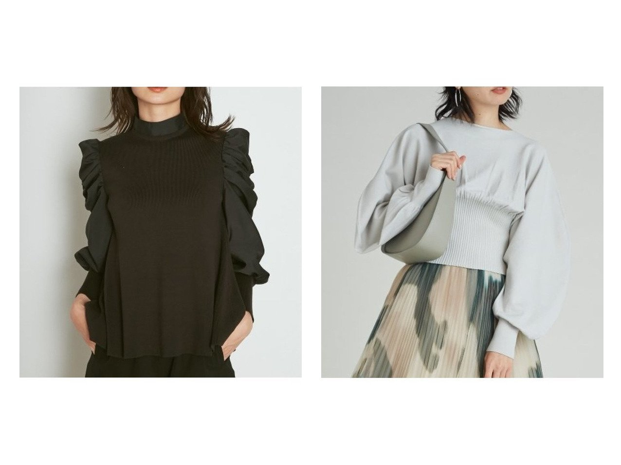 【SNIDEL/スナイデル】のスリーブボリュームフレアニット&ウエストマークパターンニットプルオーバー トップス・カットソーのおすすめ!人気、トレンド・レディースファッションの通販 おすすめで人気の流行・トレンド、ファッションの通販商品 メンズファッション・キッズファッション・インテリア・家具・レディースファッション・服の通販 founy(ファニー) https://founy.com/ ファッション Fashion レディースファッション WOMEN トップス Tops Tshirt ニット Knit Tops プルオーバー Pullover ギャザー スタンド スリーブ チュニック トレンド フィット フェミニン フレア ラベンダー ワイド 再入荷 Restock/Back in Stock/Re Arrival NEW・新作・新着・新入荷 New Arrivals なめらか ショート シンプル バランス フォルム ボトム |ID:crp329100000012004