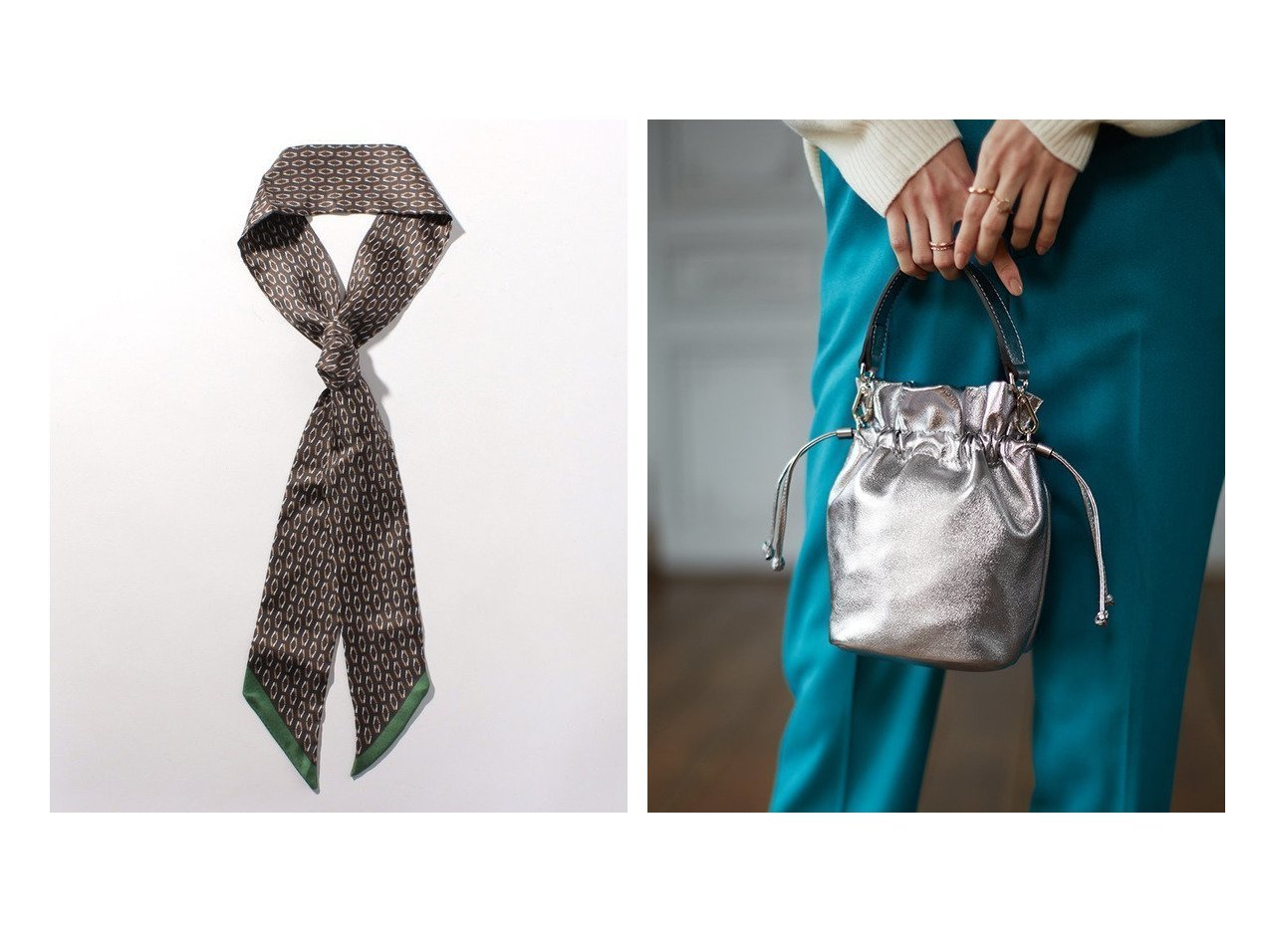 【allureville/アルアバイル】のシルクナロータイスカーフ&【ANAYI/アナイ】のメタリックミニキンチャクBAG ファッション雑誌・Webマガジン掲載!おすすめ人気トレンド・レディースファッション通販 おすすめで人気の流行・トレンド、ファッションの通販商品 メンズファッション・キッズファッション・インテリア・家具・レディースファッション・服の通販 founy(ファニー) https://founy.com/ 雑誌掲載アイテム Magazine items ファッション雑誌 Fashion magazines オッジ Oggi リー LEE マリソル Marisol ファッション Fashion レディースファッション WOMEN ストール Scarves マフラー Mufflers バッグ Bag 2月号 A/W 秋冬 AW Autumn/Winter / FW Fall-Winter スカーフ ストール マフラー リボン 今季 雑誌 |ID:crp329100000012181