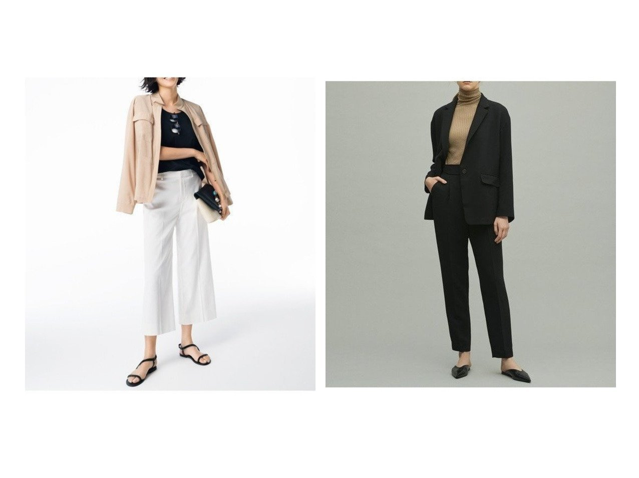 【uncrave/アンクレイヴ】のウォッシャブルダブルクロス パンツ&【JIYU-KU/自由区】のCOOLMAX クロップドワイドパンツ パンツのおすすめ!人気、トレンド・レディースファッションの通販 おすすめで人気の流行・トレンド、ファッションの通販商品 メンズファッション・キッズファッション・インテリア・家具・レディースファッション・服の通販 founy(ファニー) https://founy.com/ ファッション Fashion レディースファッション WOMEN パンツ Pants 送料無料 Free Shipping ジャケット フロント 再入荷 Restock/Back in Stock/Re Arrival シンプル ストレッチ センター 定番 Standard ワイド |ID:crp329100000012417