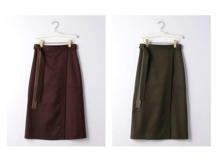 【green label relaxing / UNITED ARROWS/グリーンレーベル リラクシング / ユナイテッドアローズ】の【EMMEL REFINES】EM カルゼ ラップ 台形スカート スカートのおすすめ!人気、トレンド・レディースファッションの通販 おすすめファッション通販アイテム インテリア・キッズ・メンズ・レディースファッション・服の通販 founy(ファニー) https://founy.com/ ファッション Fashion レディースファッション WOMEN スカート Skirt ロングスカート Long Skirt 台形スカート Trapezoid Skirt 秋 Autumn/Fall 台形 ラップ ロング 冬 Winter  ID:crp329100000012431