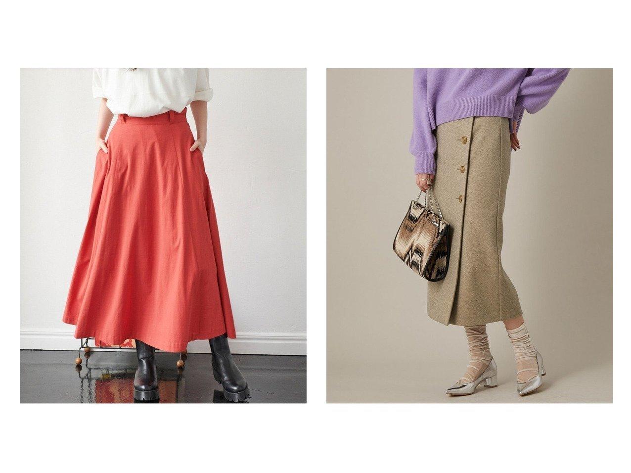 【Adam et Rope/アダム エ ロペ】のラップボタンスカート&【VIS/ビス】の【Dickies】麻混フレアロングスカート スカートのおすすめ!人気、トレンド・レディースファッションの通販 おすすめで人気の流行・トレンド、ファッションの通販商品 メンズファッション・キッズファッション・インテリア・家具・レディースファッション・服の通販 founy(ファニー) https://founy.com/ ファッション Fashion レディースファッション WOMEN スカート Skirt ロングスカート Long Skirt フレア ロング 春 Spring コンパクト バランス ベーシック ポケット ラップ リブニット 冬 Winter  ID:crp329100000012432