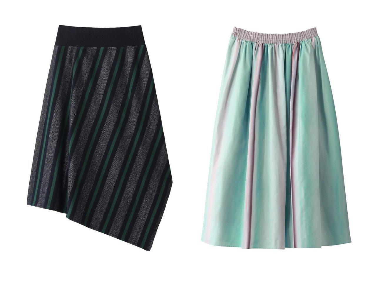 【LIFE WITH FLOWERS/ライフ ウィズ フラワーズ】のグラデーションタフタギャザースカート&【PLAIN PEOPLE/プレインピープル】のコットンラガーボーダーアシンメトリースカート スカートのおすすめ!人気、トレンド・レディースファッションの通販 おすすめで人気の流行・トレンド、ファッションの通販商品 メンズファッション・キッズファッション・インテリア・家具・レディースファッション・服の通販 founy(ファニー) https://founy.com/ ファッション Fashion レディースファッション WOMEN スカート Skirt ロングスカート Long Skirt スポーティ ボーダー ギャザー グラデーション タフタ ロング  ID:crp329100000012440