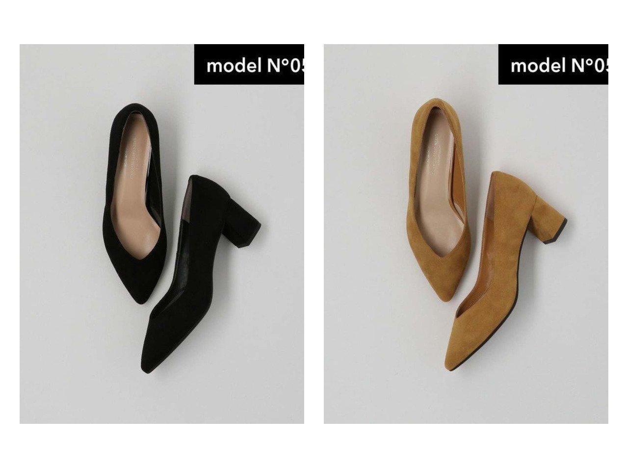 【green label relaxing / UNITED ARROWS/グリーンレーベル リラクシング / ユナイテッドアローズ】のmodel NO.05 D ポインテッド チャンキー パンプス 50 シューズ・靴のおすすめ!人気、トレンド・レディースファッションの通販 おすすめで人気の流行・トレンド、ファッションの通販商品 メンズファッション・キッズファッション・インテリア・家具・レディースファッション・服の通販 founy(ファニー) https://founy.com/ ファッション Fashion レディースファッション WOMEN カッティング シューズ プレーン ポインテッド ミドル  ID:crp329100000012453