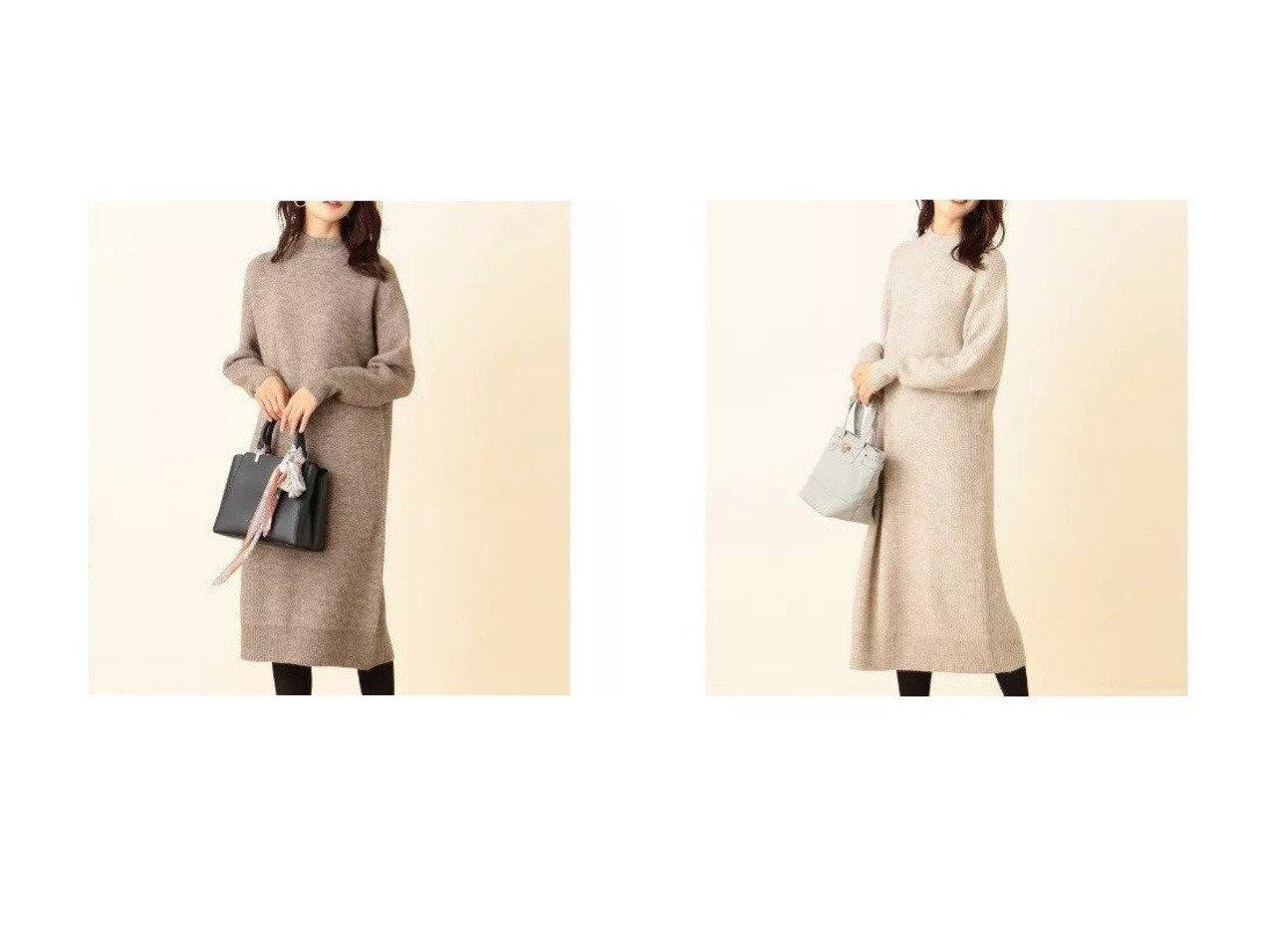 【any SiS/エニィ スィス】の【洗える】アウトリンキングバックスリット ワンピース ワンピース・ドレスのおすすめ!人気、トレンド・レディースファッションの通販 おすすめファッション通販アイテム インテリア・キッズ・メンズ・レディースファッション・服の通販 founy(ファニー)  ファッション Fashion レディースファッション WOMEN ワンピース Dress ニットワンピース Knit Dresses スリット トレンド ハイネック プリーツ 洗える グレー系 Gray ベージュ系 Beige |ID:crp329100000012526