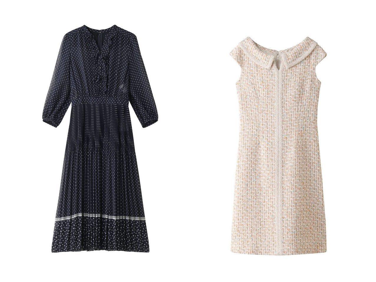 【ANAYI/アナイ】のラインドットPTフリルワンピース&カラーミックスツイードエリツキワンピース ワンピース・ドレスのおすすめ!人気、トレンド・レディースファッションの通販 おすすめで人気の流行・トレンド、ファッションの通販商品 メンズファッション・キッズファッション・インテリア・家具・レディースファッション・服の通販 founy(ファニー) https://founy.com/ ファッション Fashion レディースファッション WOMEN ワンピース Dress エアリー クラシカル ドット パーティ フリル プリーツ ツイード フェミニン ミックス 春 Spring  ID:crp329100000012527