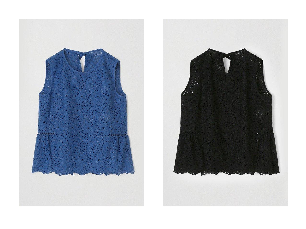 【ANAYI/アナイ】のペイズリーレースペプラムブラウス トップス・カットソーのおすすめ!人気、トレンド・レディースファッションの通販 おすすめで人気の流行・トレンド、ファッションの通販商品 メンズファッション・キッズファッション・インテリア・家具・レディースファッション・服の通販 founy(ファニー) https://founy.com/ ファッション Fashion レディースファッション WOMEN トップス Tops Tshirt キャミソール / ノースリーブ No Sleeves シャツ/ブラウス Shirts Blouses デニム ノースリーブ フェミニン ペプラム リボン レース 春 Spring |ID:crp329100000012548