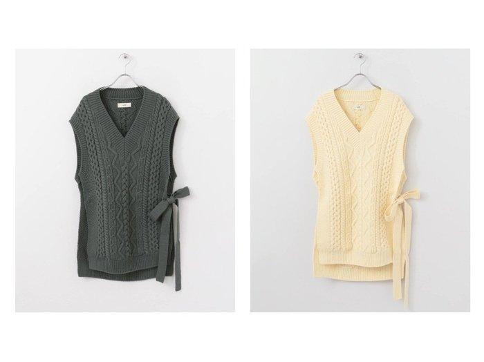 【URBAN RESEARCH DOORS/アーバンリサーチ ドアーズ】のunfil frenchmerinocable vest おすすめ!人気、トレンド・レディースファッションの通販 おすすめファッション通販アイテム レディースファッション・服の通販 founy(ファニー) ファッション Fashion レディースファッション WOMEN アウター Coat Outerwear コート Coats ジャケット Jackets シンプル ジャケット スタンダード フランス ベスト |ID:crp329100000012653