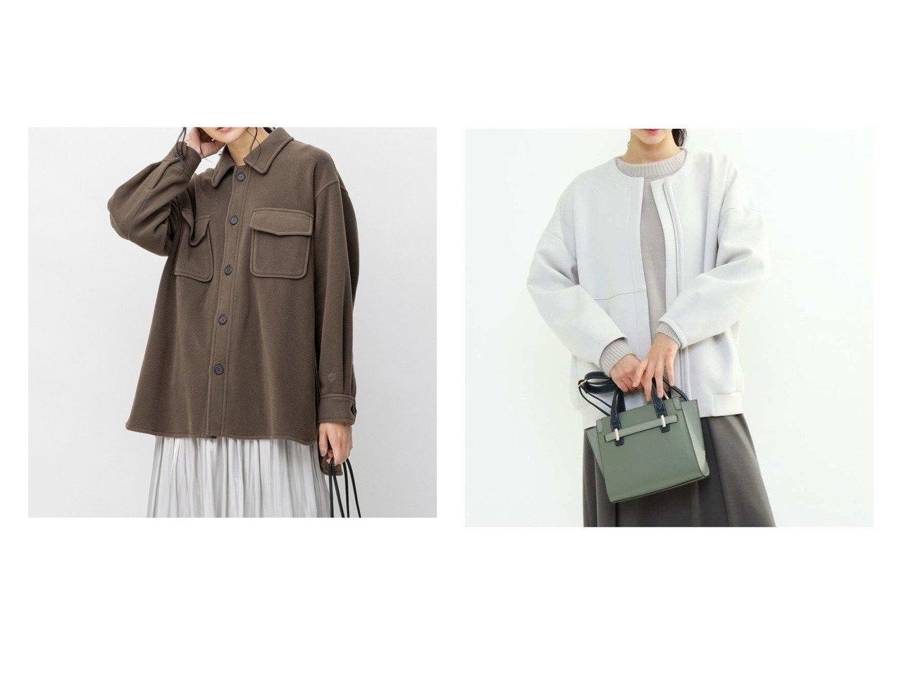 【INDIVI/インディヴィ】のエアーダンボールライトアウター&【JIYU-KU/自由区】の【UNFILO】マシュマロフリース CPOシャツ ジャケット 2 アウターのおすすめ!人気、トレンド・レディースファッションの通販  おすすめで人気の流行・トレンド、ファッションの通販商品 メンズファッション・キッズファッション・インテリア・家具・レディースファッション・服の通販 founy(ファニー) https://founy.com/ ファッション Fashion レディースファッション WOMEN アウター Coat Outerwear ジャケット Jackets コート Coats ブルゾン Blouson Jackets エレガント カフス 今季 ジャケット スリット チュニック 長袖 ビッグ フィット フラップ ポケット NEW・新作・新着・新入荷 New Arrivals パーカー ブルゾン ベーシック |ID:crp329100000012744