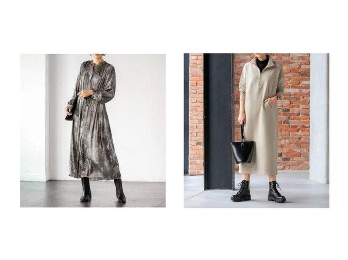 【STYLE DELI/スタイルデリ】の【LUXE】ジップスタンドカラースウェットワンピース&【LUXE】ぼかし柄サテンギャザーワンピース ワンピース・ドレスのおすすめ!人気、トレンド・レディースファッションの通販  おすすめファッション通販アイテム インテリア・キッズ・メンズ・レディースファッション・服の通販 founy(ファニー) https://founy.com/ ファッション Fashion レディースファッション WOMEN ワンピース Dress シャツワンピース Shirt Dresses カフス カーディガン ギャザー グラデーション 切替 サテン ジャケット タイツ タートルネック ドレープ なめらか 人気 長袖 パーカー フォルム プリーツ ペチコート ポケット 防寒 ミックス リボン リラックス レギンス ロング 冬 Winter カットソー |ID:crp329100000012785