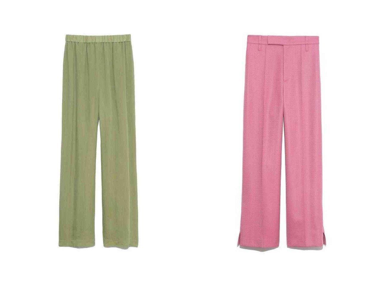 【Mila Owen/ミラオーウェン】の裾ベンツ後ろゴムワイドパンツ&シアーセットアップウエストゴムパンツ パンツのおすすめ!人気、トレンド・レディースファッションの通販 おすすめで人気の流行・トレンド、ファッションの通販商品 メンズファッション・キッズファッション・インテリア・家具・レディースファッション・服の通販 founy(ファニー) https://founy.com/ ファッション Fashion レディースファッション WOMEN セットアップ Setup パンツ Pants パンツ Pants エレガント ジーンズ ストレート NEW・新作・新着・新入荷 New Arrivals ループ ワイド ワーク |ID:crp329100000012836
